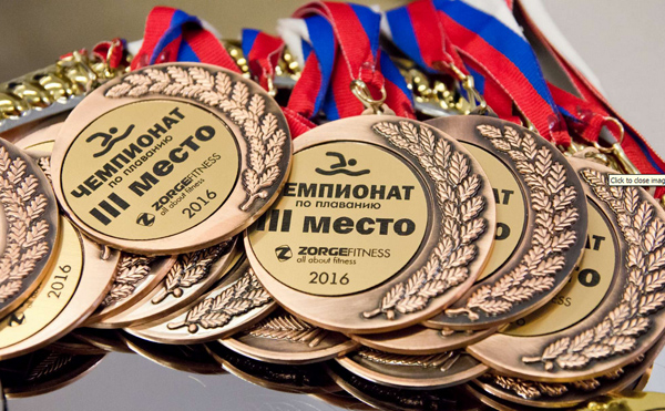 Медали  Zorge Fitness с чемпионата по плаванию
